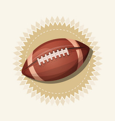 american football retro banner vector image