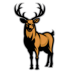 buck mascot vector image