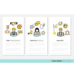 Business Team Work Brochure Template vector image vector image