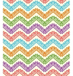 Colorful zigzag seamless pattern Chevron vector image