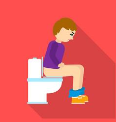 diarrhea icon flate single sick icon from the big vector image