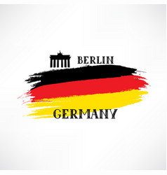 german flag with handwritten lettering germany vector image vector image