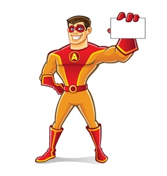 Handsome Superhero Card vector image