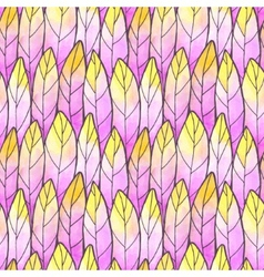 Seamless Background Feather Pattern vector image