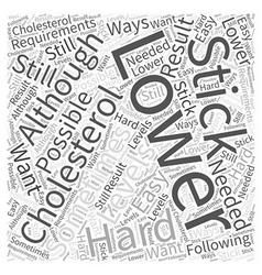 ways to lower your cholesterol Word Cloud Concept vector image