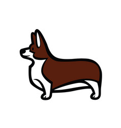 welsh corgi standing in profile vector image