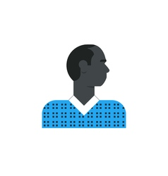 Black man side view turned head casual dress vector