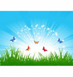 butterfly landscape vector image vector image