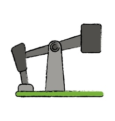 drawn oil pump drilling petroleum industry vector image