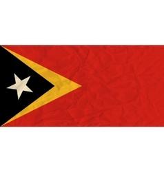 East Timor paper flag vector image