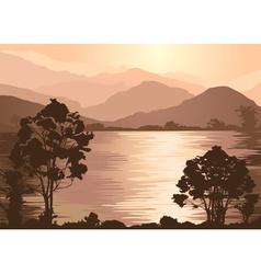 Foggy Brown Landscape vector image