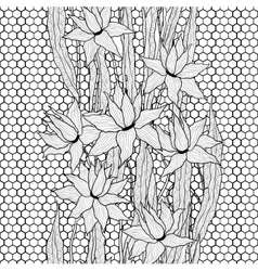 Seamless floral pattern Royal lilies vector image vector image