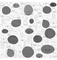 Seamless pattern for ladies handbags vector image vector image