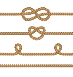 Set of ropes with knots vector image