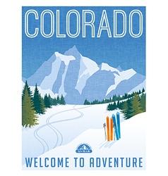 Vintage travel poster or sticker of Colorado vector image vector image