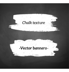Chalked banners vector image vector image