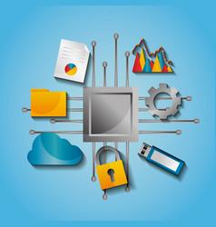Circuit board data process protection backup vector