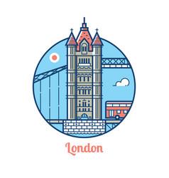 london bridge icon vector image vector image