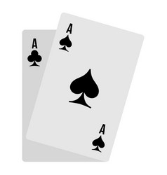 poker card icon flat style vector image