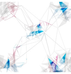 Abstract connections lines modern background vector image