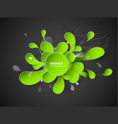 abstract flower background with circles vector image