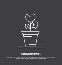 Adventure game mario obstacle plant icon line vector