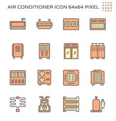 Air conditioner and compressor icon set 64x64 vector