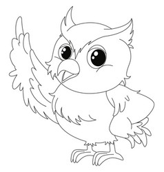 Animal outline for cute owl vector