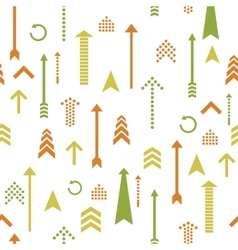 Arrows seamless pattern retro style vector image vector image