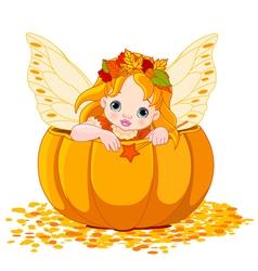Autumn Little Fairy vector