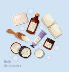 bath accessories banner vector image
