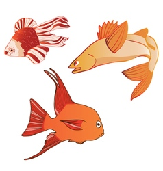BeautifulMulticoloredIridescentEmotionalFish vector image