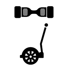 Black segway icon vector