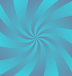 Blue curved ray design background vector