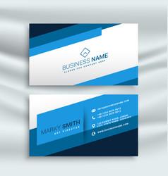Blue stripe modern business card identity vector