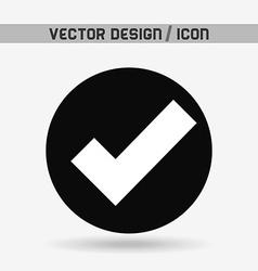 check icon design vector image