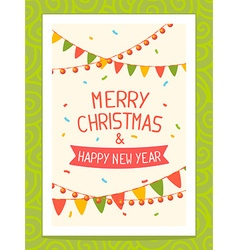 Christmas card with hand written text on vector