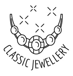 classic jewellery logo outline style vector image
