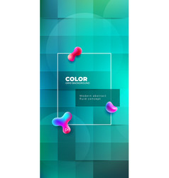 color background design with square cells fluid vector image