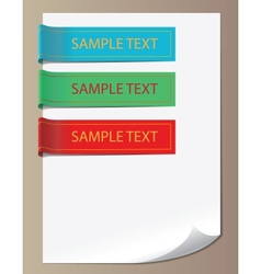 Color bookmarks ribbons vector image