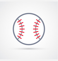 Colored baseball ball symbol vector