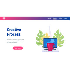 concept on creative process theme vector image