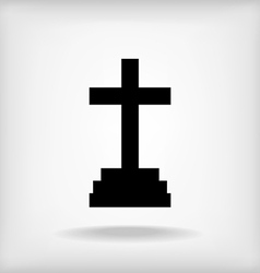 Cross icon vector
