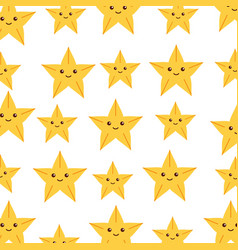 Cute starfish pattern background vector