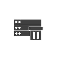 database server storage icon element of vector image