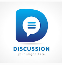 Discussion d logo vector