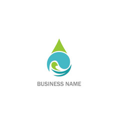Droplet wave water eco business logo vector