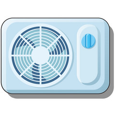 electric fan air conditioning for home climate vector image