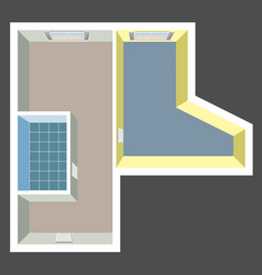 Empty house plan top view vector