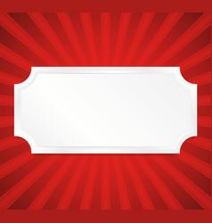 empty plaque vector image